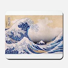 Ukiyoe Hokusai Wave Mousepad