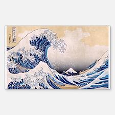 Ukiyoe Hokusai Wave Sticker (Rect.)