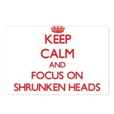 Funny Shrunken head Postcards (Package of 8)