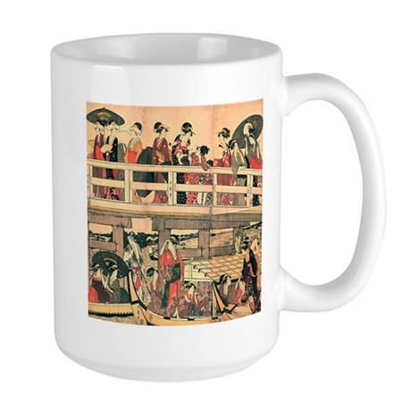 Ukiyoe The Bridge Large Mug