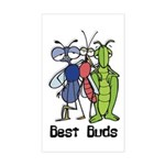 Best Buds Bug Trio Rectangle Sticker