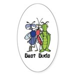 Best Buds Bug Trio Oval Sticker