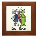 Best Buds Bug Trio Framed Tile