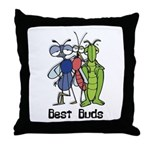 Best Buds Bug Trio Throw Pillow