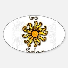 Go Solar 4 Oval Decal