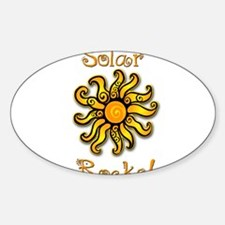 Solar Rocks 1 Oval Decal