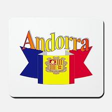 Andorra flag ribbon Mousepad