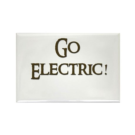 Go Electric 1 Rectangle Magnet