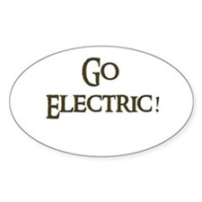 Go Electric 1 Oval Decal