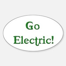 Go Electric! Oval Decal