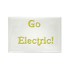 Go Electric! yellow Rectangle Magnet