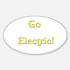 Go Electric! yellow Oval Decal