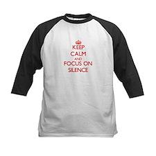 Keep Calm and focus on Silence Baseball Jersey