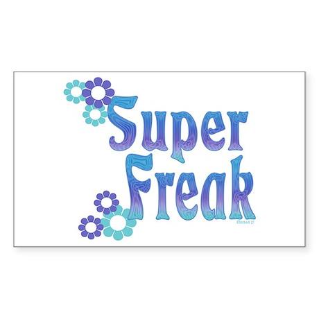 Super Freak Rectangle Sticker