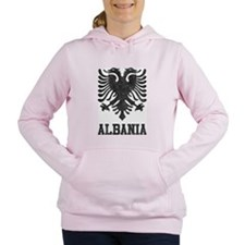 Vintage Albania Women's Hooded Sweatshirt