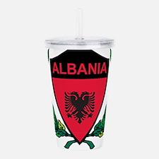 Stylized Albania Acrylic Double-wall Tumbler