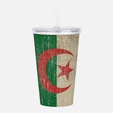 Vintage Algeria Flag Acrylic Double-wall Tumbler