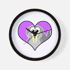 Cute Walrus Goofkins in Heart Wall Clock