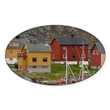 Typical fishing village & gateway t Decal