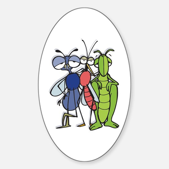 Bug Trio Oval Decal