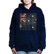 Vintage Australia Flag Women's Hooded Sweatshirt