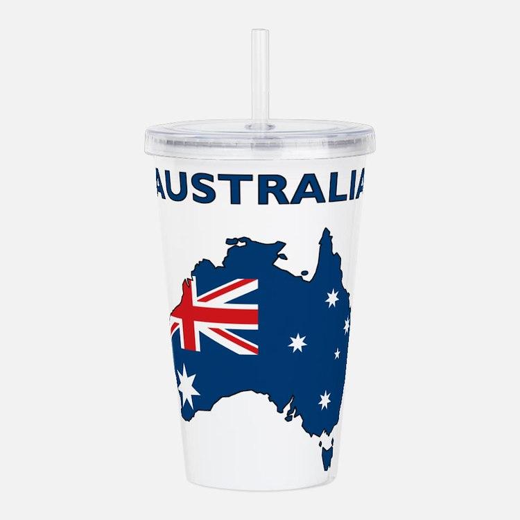 Map Of Australia Acrylic Double-wall Tumbler