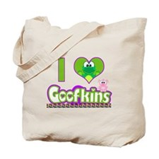 I Love (heart) Goofkins Tote Bag