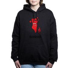 Map Of Bahrain Women's Hooded Sweatshirt