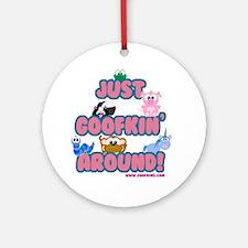 Just Goofkin (Goofing) Around Ornament (Round)