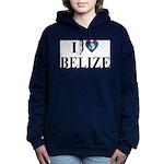 I Love Belize Women's Hooded Sweatshirt