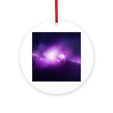 Purple Nebula Ornament (Round)