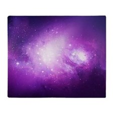 Purple Nebula Throw Blanket