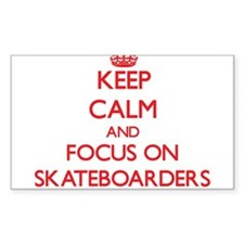Keep Calm and focus on Skateboarders Decal