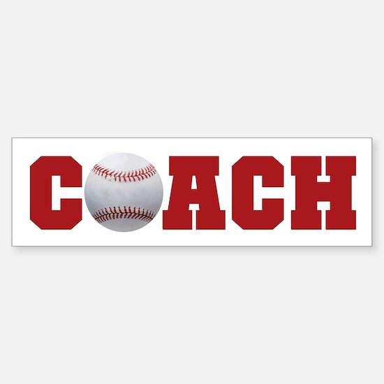 Baseball Coach 2 Bumper Bumper Bumper Sticker