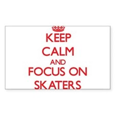 Keep Calm and focus on Skaters Decal