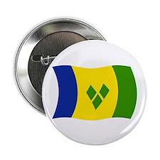 """Saint Vincent Grenadines Flag 2 2.25"""" Button (100"""