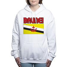 Brunei Flag Women's Hooded Sweatshirt