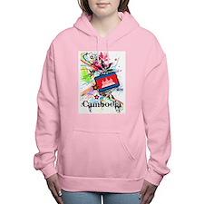Flower Cambodia Women's Hooded Sweatshirt