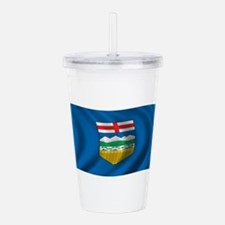Wavy Alberta Flag Acrylic Double-wall Tumbler