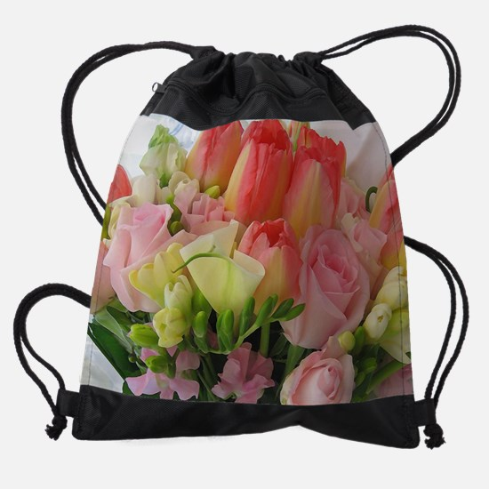 Bride's Bouquet Drawstring Bag