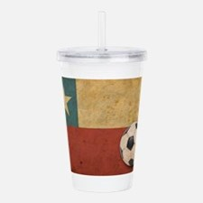 Vintage Chile Flag Acrylic Double-wall Tumbler