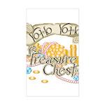 Treasure Chest Rectangle Sticker