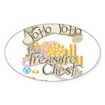Treasure Chest Oval Sticker