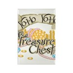 Treasure Chest Rectangle Magnet