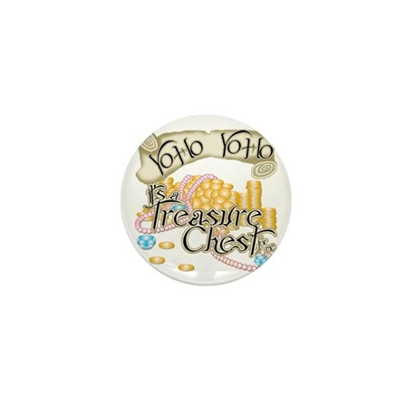 Treasure Chest Mini Button (10 pack)
