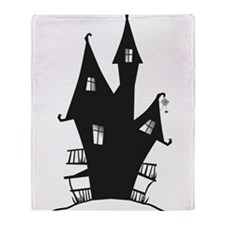 Haunted House Throw Blanket
