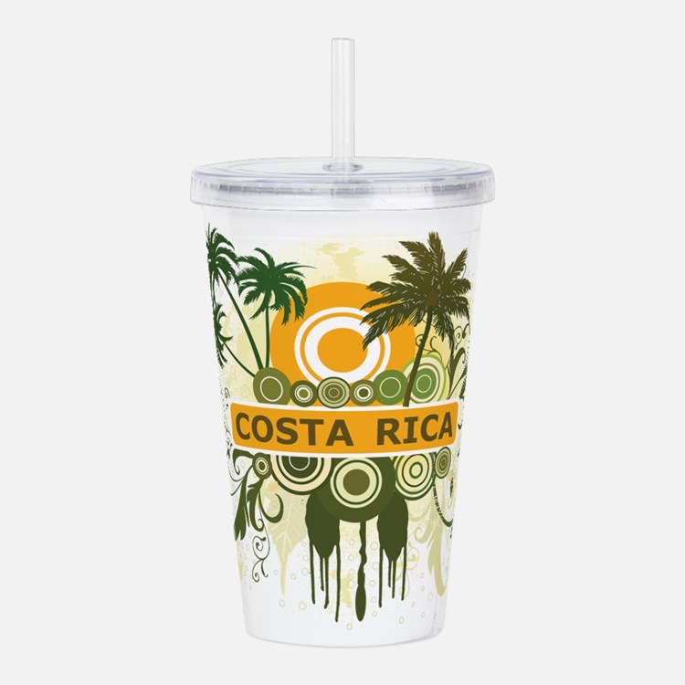 Palm Tree Costa Rica Acrylic Double-wall Tumbler