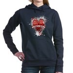 Heart Costa Rica Women's Hooded Sweatshirt