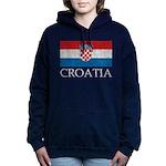 Vintage Croatia Women's Hooded Sweatshirt