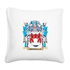 Cute Donnelly coat of arms Square Canvas Pillow